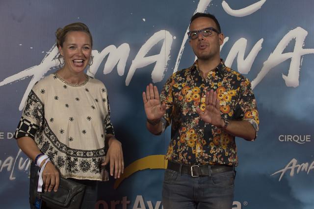 Carolina Ferre y Àngel Llàcer, en el estreno del show de Cirque du Soleil.