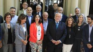 Encuentro de los representantes del catalanismo moderado.