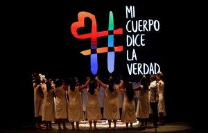Mujeres y personas LGTBIvíctimas de violencia sexualparticipan en el Encuentro por la Verdad en Colombia.
