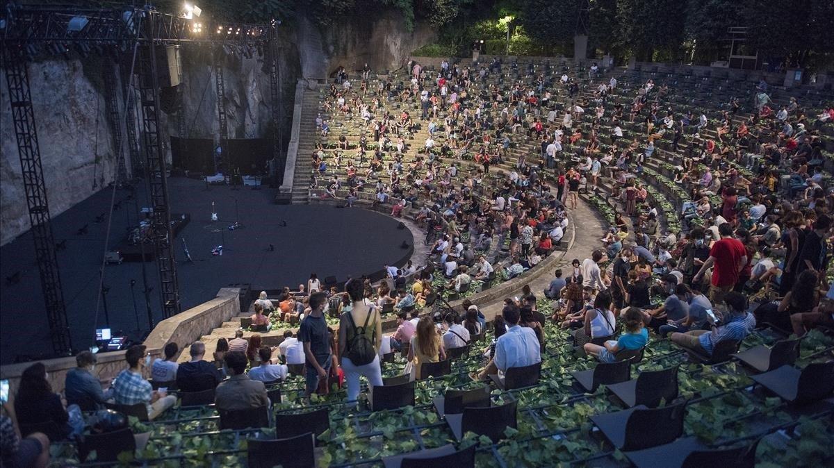 Concierto de Manel en el Grec, el pasado 7 de julio.