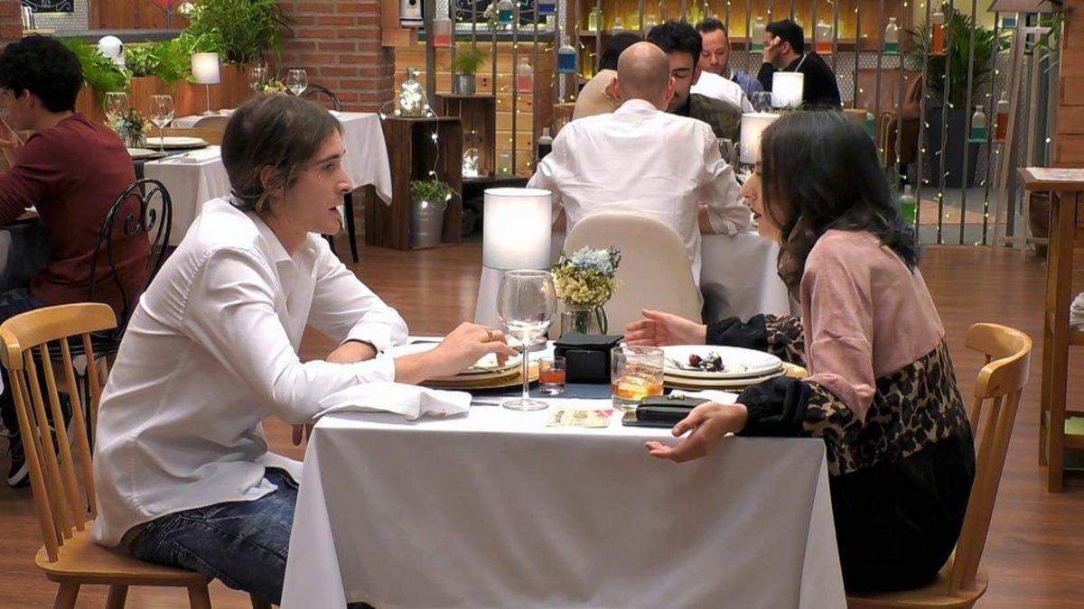 Cristofer y Ana en 'First Dates'.