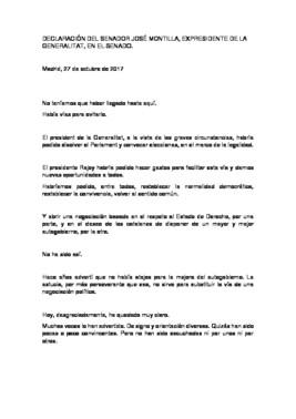 La declaración de Montilla