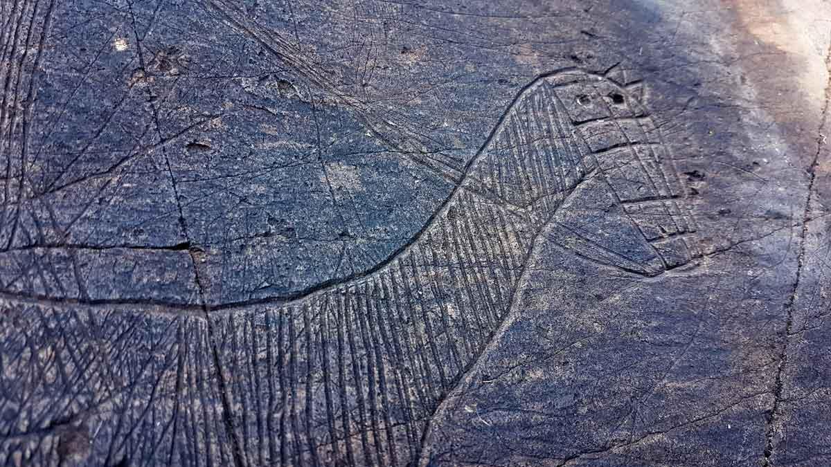 Descubiertos en el valle de Àssua centenares de grabados en piedra de la Edad Media.