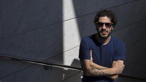 El dibujante argentino Tute, durante su visita a Barcelona este abril.