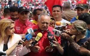 El presidente de la Asamblea Nacional Constituyente de Venezuela, Diosdado Cabello,