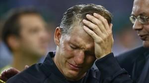 """Les llàgrimes de Schweinsteiger, el """"déu del futbol"""""""