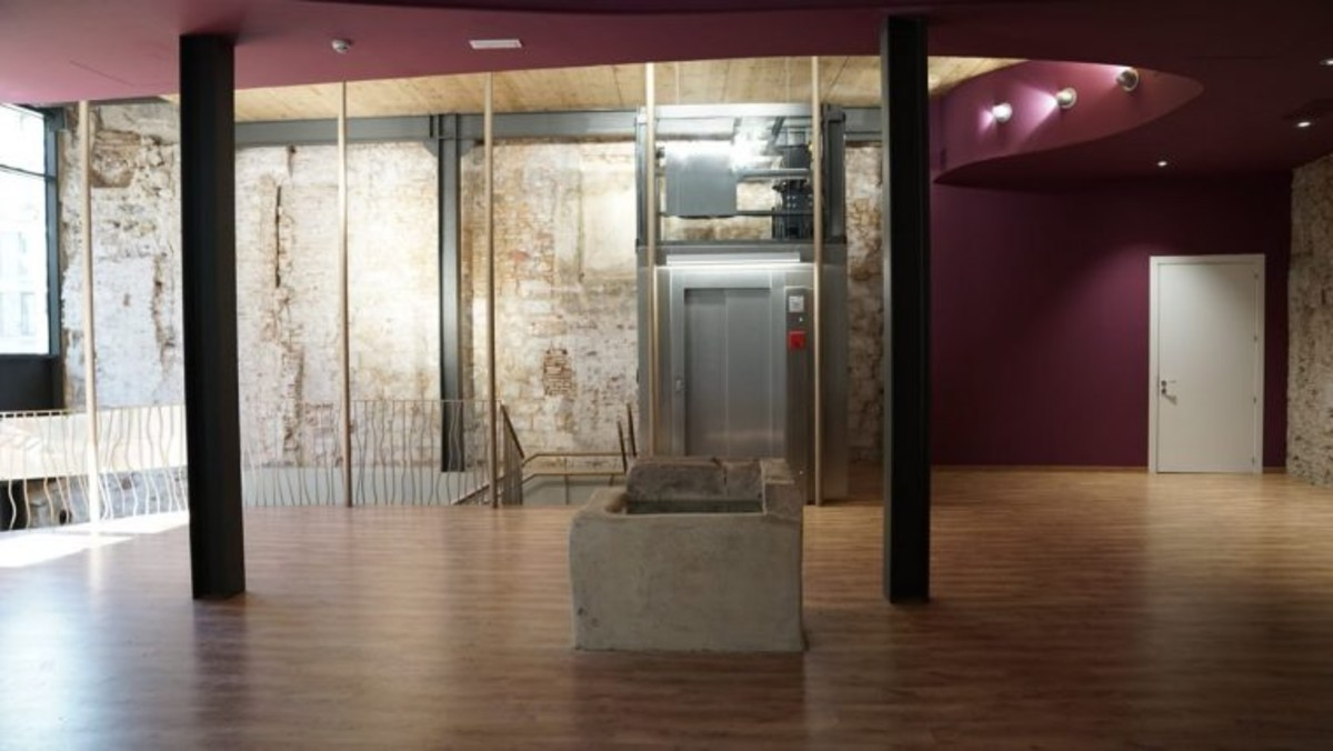 Un espacio del edificio de Ca la Dona.