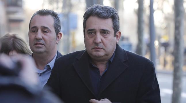 El exalcalde de Sabadell Manuel Bustos, a su llegada al TSJC para asistir al juicio de la primera pieza del caso Mercuri.