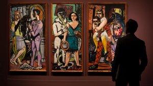 Carnaval, obra de Max Beckmann expuesta en el CaixaForum.