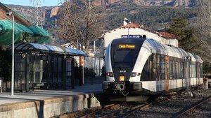 Imagen de archivo de un tren de los Ferrocarrils de la Generalitat de Catalunya del servicio Lleida-La Pobla de Segur.