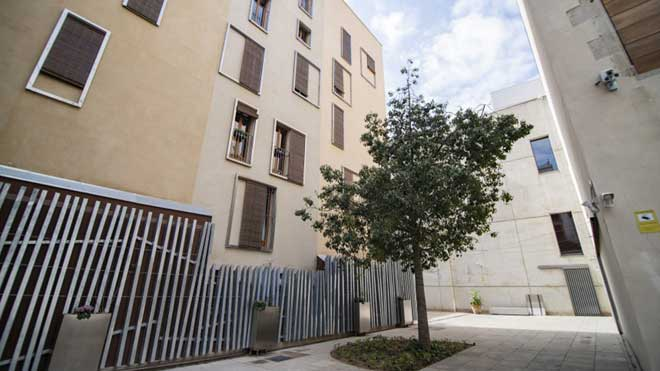finalitzada la restauracion del entorno del patio posterior del museu picasso en las calles cirera y seca
