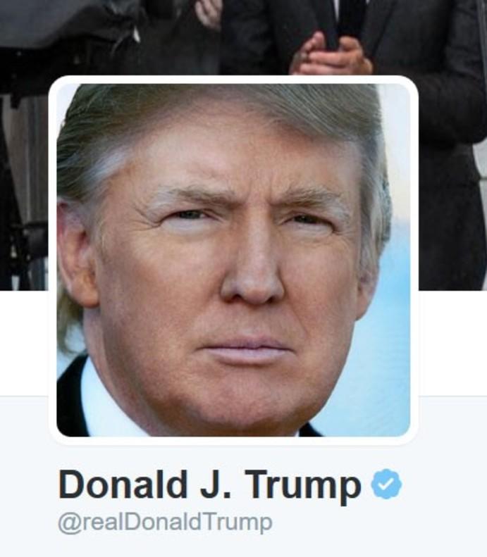 La fotografía del perfil de Donald Trump en Twitter.