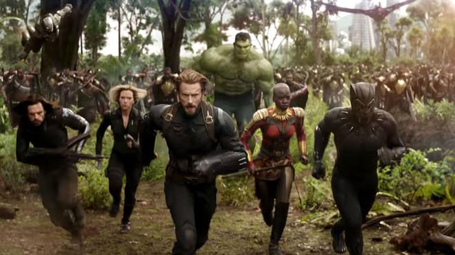 Un fotograma de Vengadores: Infinity war