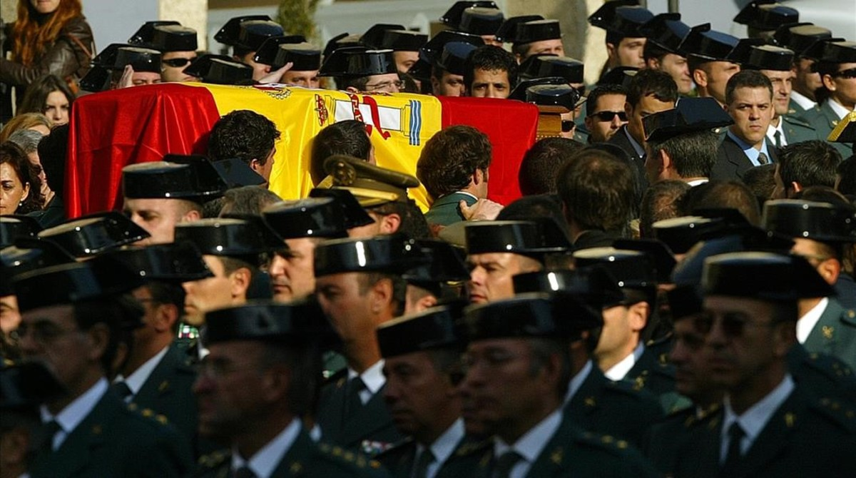 Funeral por el guardia civil Raúl Centeno, asesinado por ETA en Capbreton en el 2007.
