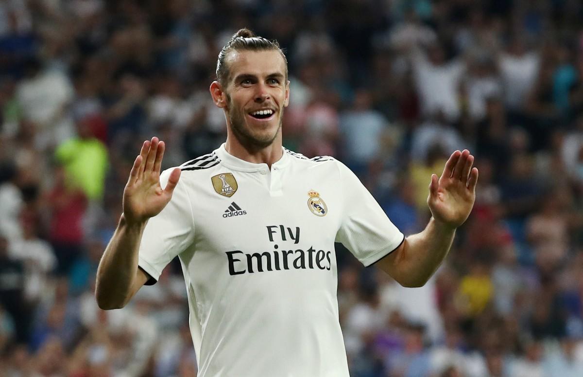 Gareth Bale celebra un gol esta temporada.
