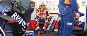 El heptacampeón Marc Márquez (Honda), en su último entrenamiento, ayer, en Jerez.