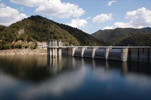 Imagen del pantano de Sau, en la cuenca del río Ter.