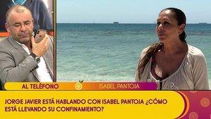 """Isabel Pantoja entra en 'Sálvame' y reconoce estar """"muy asustada"""" por el coronavirus: """"Lo estoy pasando muy mal"""""""