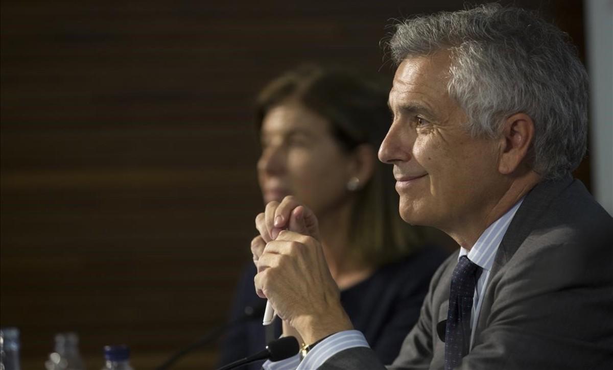 Juan Antonio Samaranch Salisachs, este jueves en Barcelona.