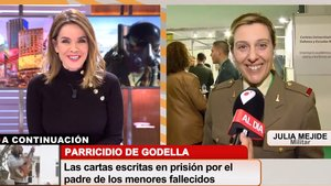 La germana militar de Risto Mejide apareix per sorpresa a 'Cuatro al día'