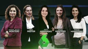 Las cinco participantes del 'Debate 7N: la última oportunidad' en laSexta.