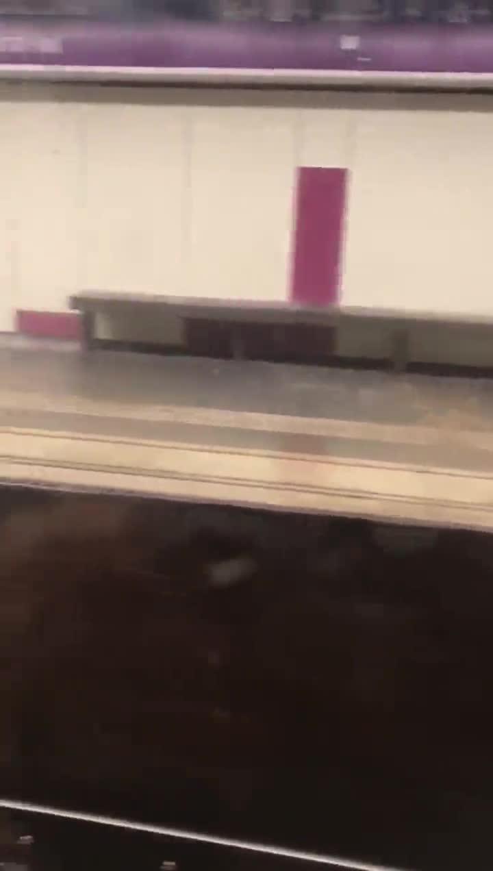 lluvia inundacion estacion de metro del paral.lel