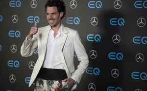 Juan Avellaneda, en la presentación del nuevo coche eléctrico de Mercedes Benz.