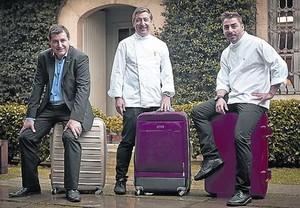 Los hermanos Roca, listos para viajar a Londres.