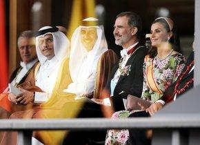 Los Reyes de España, durante la ceremonia.