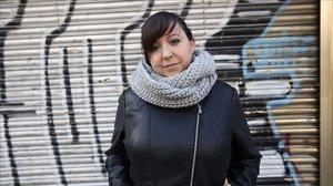María José Lillo, que fue despedida en Unísono tras tener bajas médicas, en Fuenlabrada (Madrid).