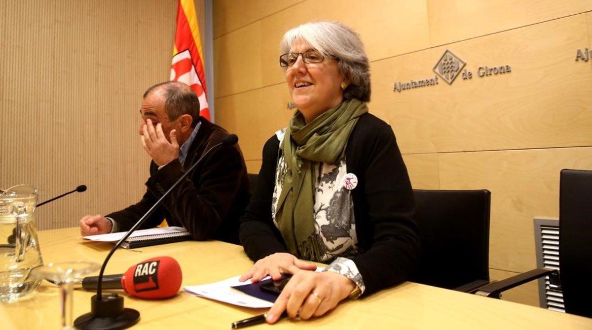 Maria Mercè Roca, en un acto en el Ayuntamiento de Girona, en el 2016.