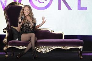 Mariah Carey en un acto con la prensa para presentar su reality, el pasado agosto.