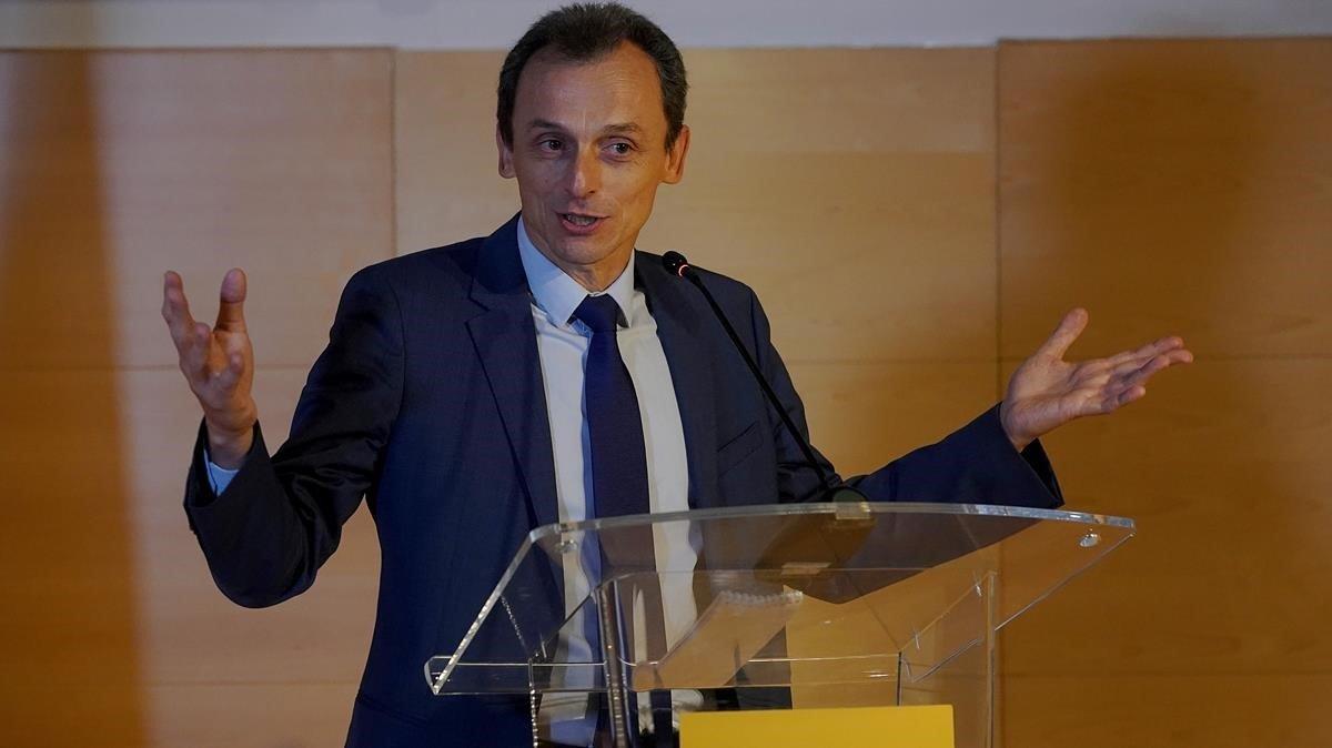 El ministro Pedro Duque