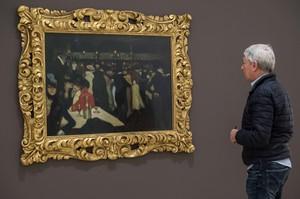 GRA016 BILBAO 21 04 2016 - Pintura Le moulin et la galette de Pablo Picasso que forman parte de la muestra Panoramas de la ciudad la Escuela de Paris 1900-1945 que el Museo Guggenheim Bilbao ha inaugurado hoy compuesta por mas de 50 obras maestras procedentes del Guggenheim de Nueva York EFE MIGUEL TONA