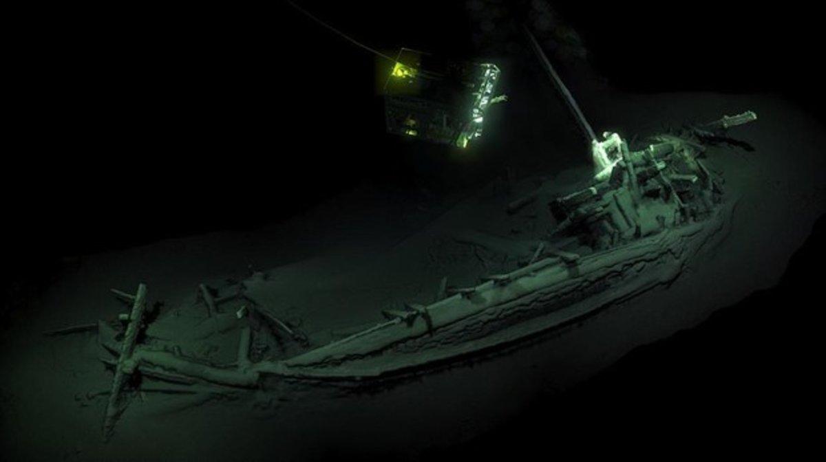 El navío griego descubierto en el lecho del Mar Negro es el barco hundido intacto más antiguo que se conoce.