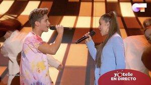 Nick y Eva en el escenario de 'OT 2020'.