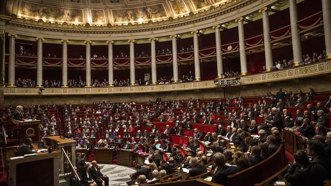 Vista general del pleno de la Asamblea Nacional francesa en Paris.