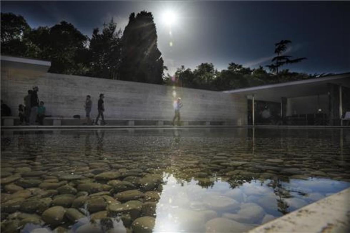 El pabellón Mies Van der Rohe.
