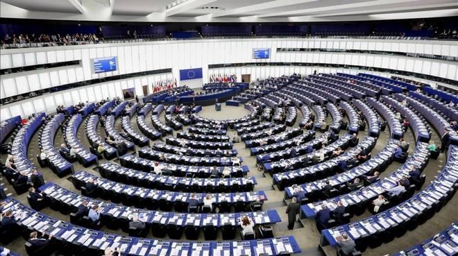 El Parlamento Europeo , reunido en una imágen de archivo en Estrasburgo (Francia).