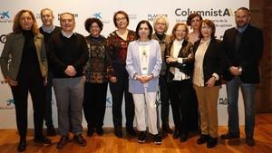 Presentación del informe sobre la presencia de la mujer en el periodismo de opinión, este martesen Madrid.