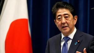 El primer ministro japonés,Shinzo Abe.