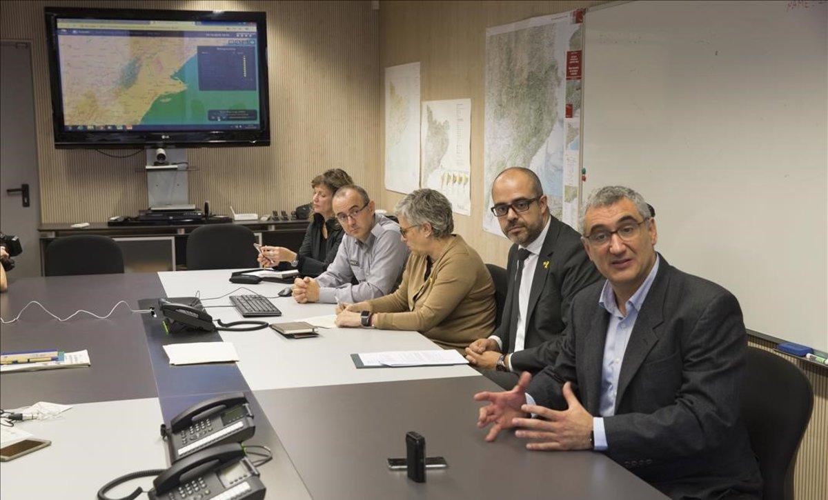 Protecció Civil presenta un sistema de alertas para desastres naturales diseñado por la UPC.