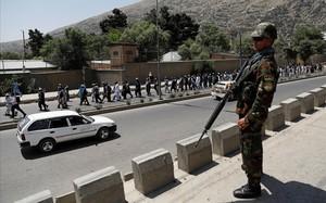 Puesto de guardia en Kabul.