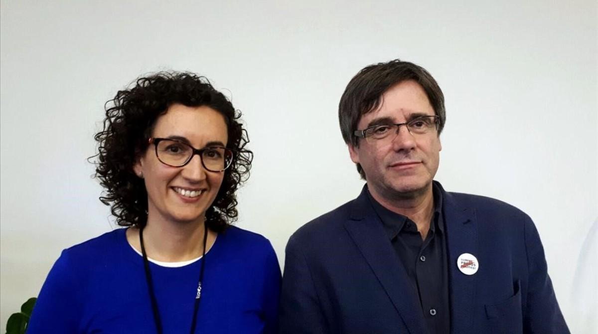 Carles Puigdemont y Marta Rovira se han reunido en Bruselas.