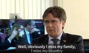Puigdemont, durante su entrevista con la BBC.