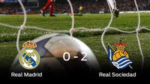 La Real Sociedad vence por 0-2 al Real Madrid