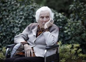 Remei Company Ventura, durant l'entrevista que li va fer EL PERIÓDICO el març del 2013, amb 110 anys.