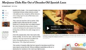 Reportaje sobre los clubs de cannabis en Barcelona, en The New York Times.