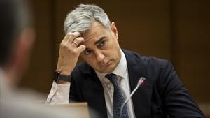 Ricardo Costa en su reciente comparecencia en una comisión de investigación de Les Corts