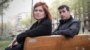 Elisenda Alamany y Marc Parés, dirigentes de los 'comuns'.
